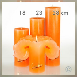 Lotus-Kerze Basic-Trend Gr.3 28cm orange