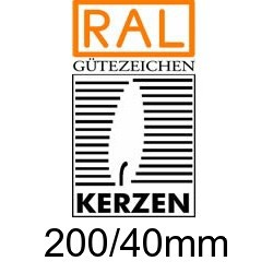 Altarkerzen Ceresin 200/40mm